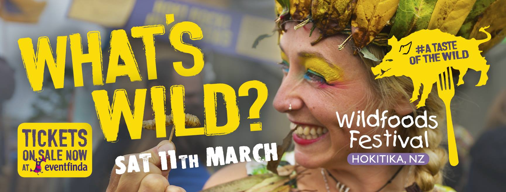 Wild foods festival event banner